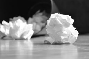 Crumpled balls of paper B/W,