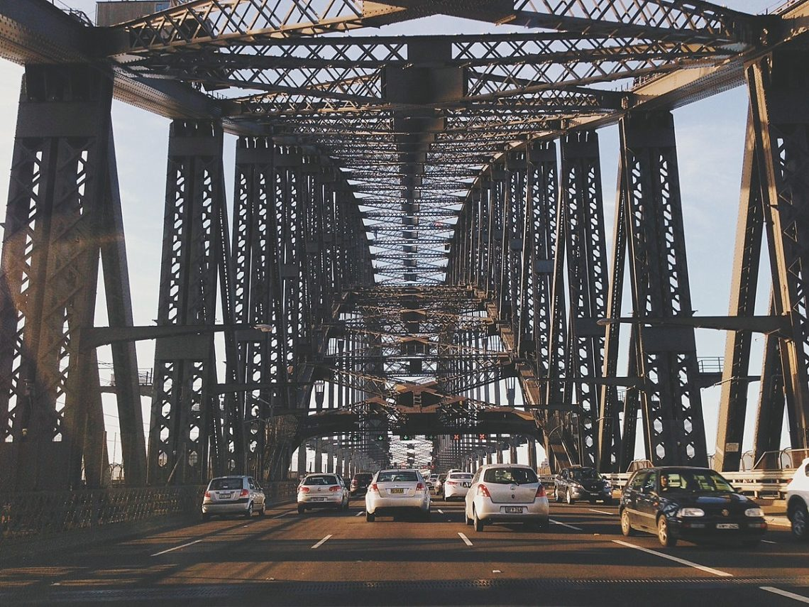 Traffic on the Sydney Harbour Bridge