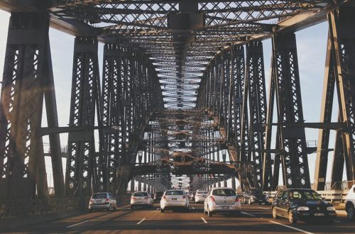 Traffic on the Sydney Harbour Bridge