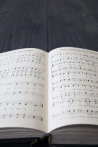 Image of open hymnbook