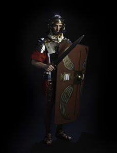 Image of soldier in ancient Roman armour